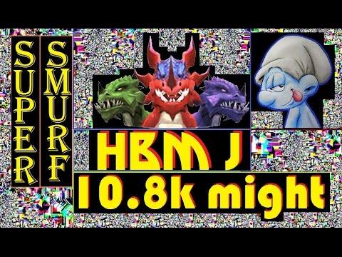 Castle Clash - HBM J - No Garrison - 10.8k Might ! ! !