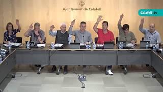 Ajuntament de Calafell: sessió plenària ordinària, 5 d'octubre de 2017