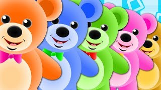 Five Little Teddy Bears  Teddy Bear Teddy Bear  Nursery Rhymes For Kids  Baby Songs ohmygenius