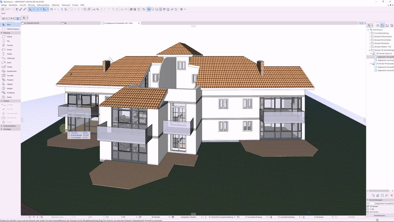 Archicad 20 Mini Tut 3D Fenster Auf Layout Legen