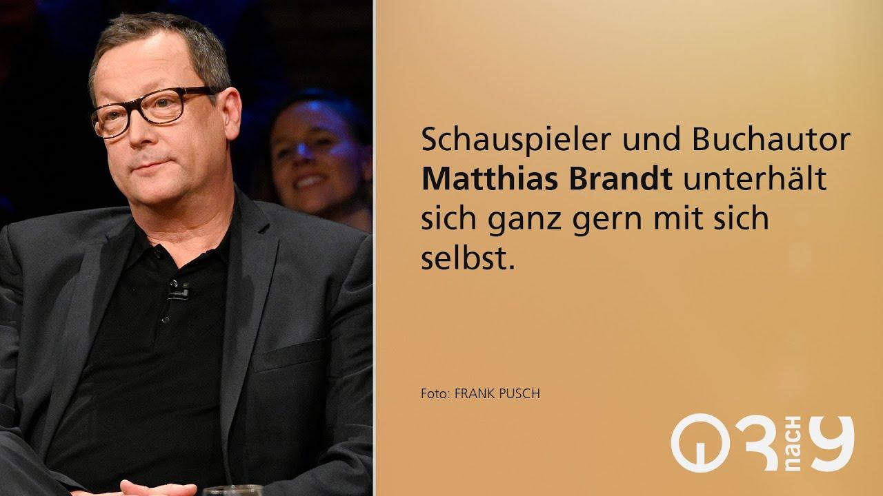 Matthias Brandt über seinen ersten Roman und darüber, dass er Selbstgespräche führt // 3nach9