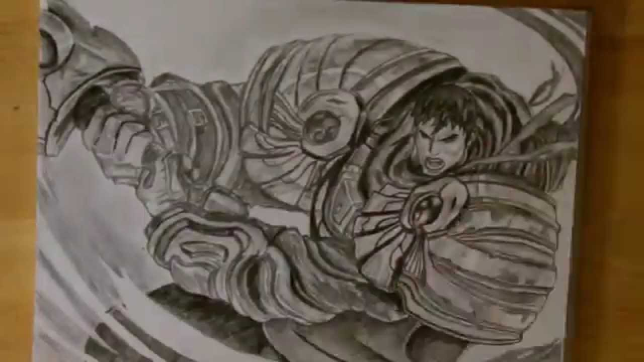 Drawing Timelapse: Garen - League of Legends - YouTube