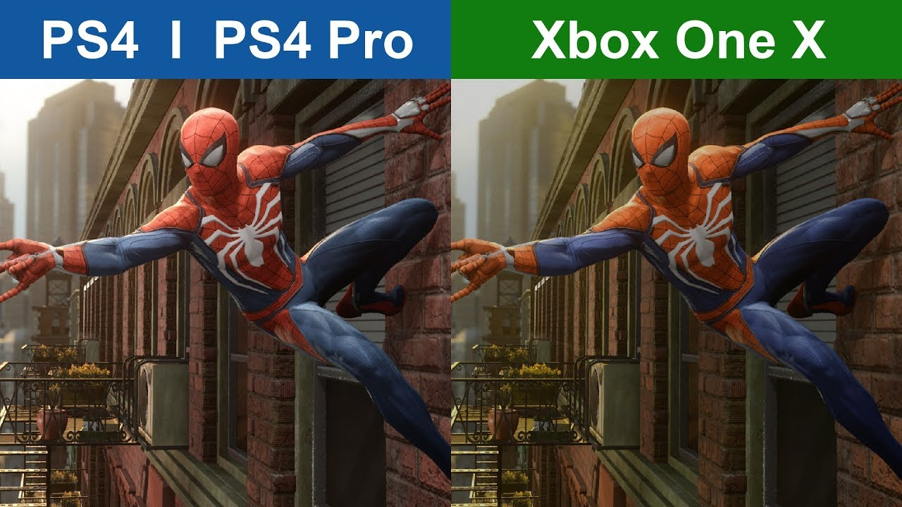 Marvel S Spider Man Voici La Video Comparative Ps4 Vs Ps4