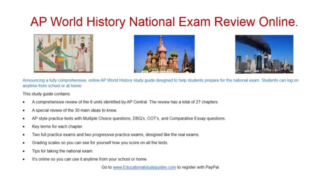 ap world history comparative review How to score 5 on the ap world history exam doing well on an ap exam allows you to receive college credit in high school a 5 is the highest grade that you can get on the test sign up and begin the ap world history course offered by your.