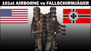 FALLSCHIRMJÄGER vs 101st AIRBORNE - Men of War Assault Squad 2 - Infantry Squad Battles #1