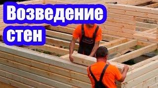видео Особенности строительства дома из профилированного бруса