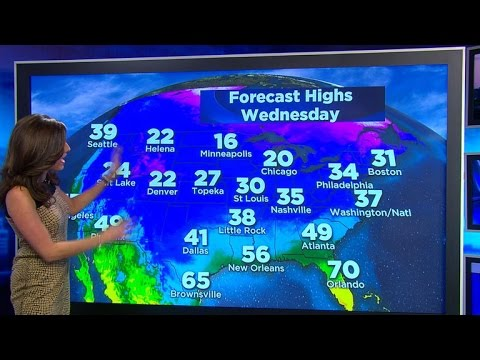 Weather forecast: Millions face snow, cold for New Year's Eve