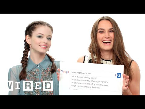 Keira Knightley & Mackenzie Foy Answer the Web's Most Searched Questions  WIRED
