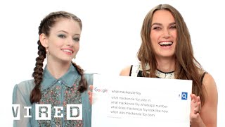 Keira Knightley & Mackenzie Foy Answer the Web