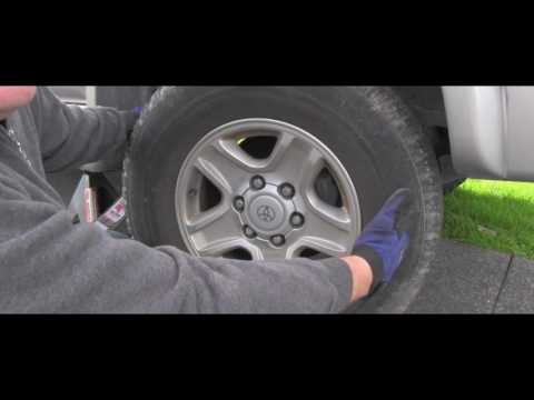Toyota Service - How To Check Wheel Bearing Play