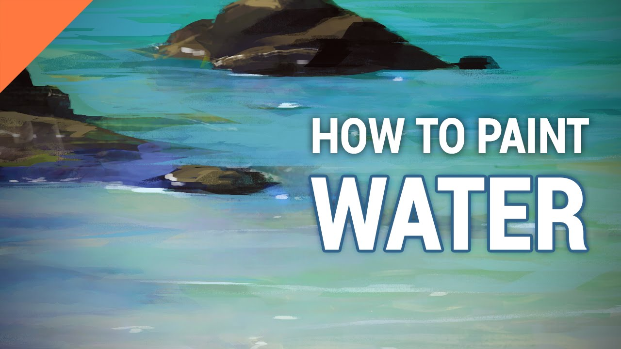 How To Paint WATER In Photoshop  YouTube