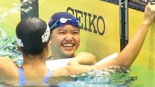 長谷川涼香 13-14歳100mバタフライ決勝 ジュニアオリンピック水泳2013-830