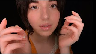 ASMR Up-Close, Whispered Personal Attention (Repetition/Rambles/Face Touching)