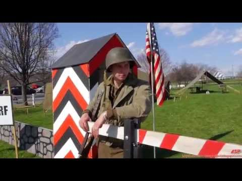 94th Infantry Division, US Army Camp Walkthrough || WW2 Re-Enacting