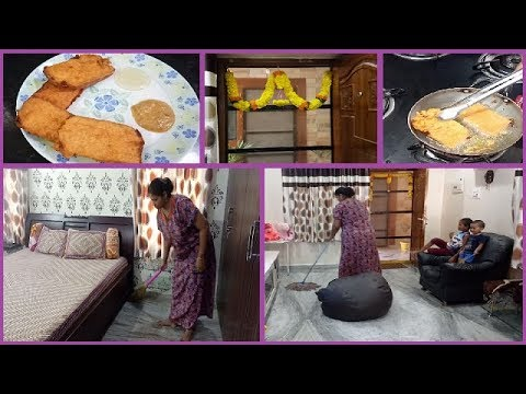 Indian Mom Quick Breakfast and Deep Cleaning Routine ll No Maid day ll Wiping and Mopping