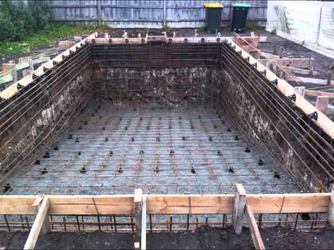 How to build a swimming pool youtube - Cinder block swimming pool construction ...