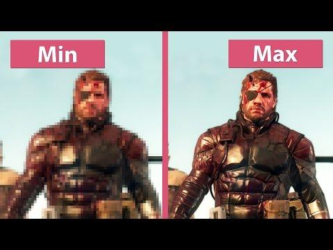 Metal Gear Solid 5 The Phantom Pain – PC Min vs. Max Graphics Comparison [FullHD][60fps]