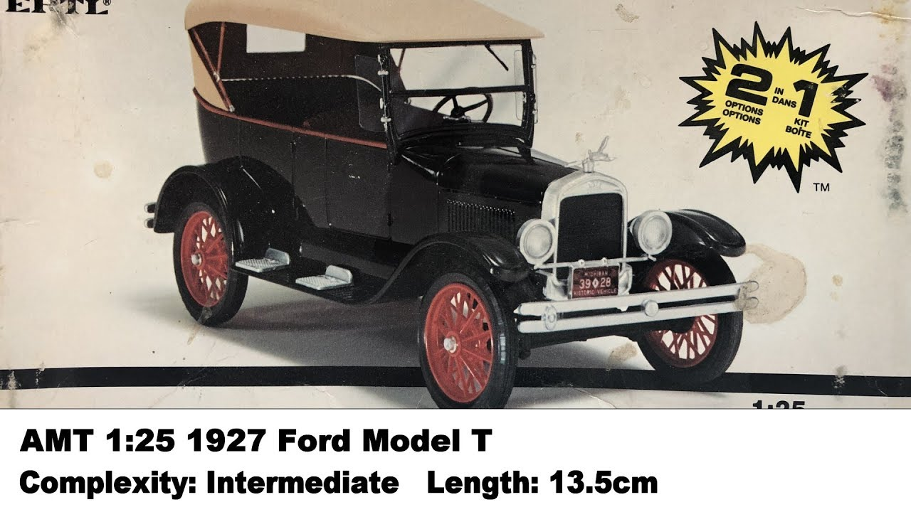 Amt 1 25 1927 Ford Model T Kit Review Youtube