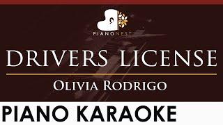 Olivia Rodrigo - drivers license - HIGHER Key (Piano Karaoke Instrumental)