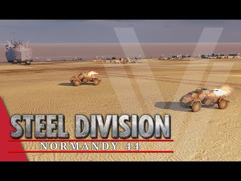 Controlling The Beach! Steel Division: Normandy 44 Gameplay (Omaha, 4v4)