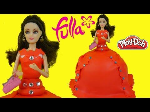 فستان صلصال فلة للمفاجآت - ألعاب بنات أميرات ديزني Fulla Barbie Playdoh Dress