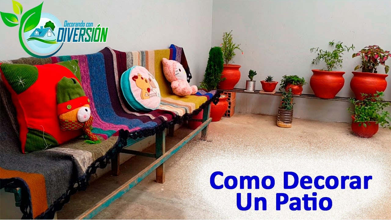 Como decorar un patio peque o youtube for Como decorar un jardin grande