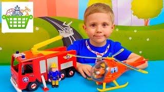 Пожежний Сем і пожежна машина Юпітер - Огляд іграшок з Даником