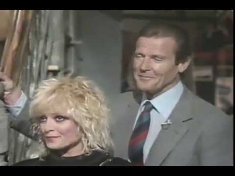 Roger Moore on MTV in 1985 to promote A View To A Kill