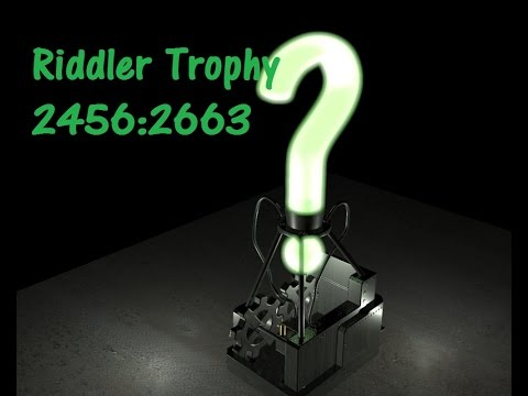 Batman Arkham Knight: Riddler Trophy 2456:2663