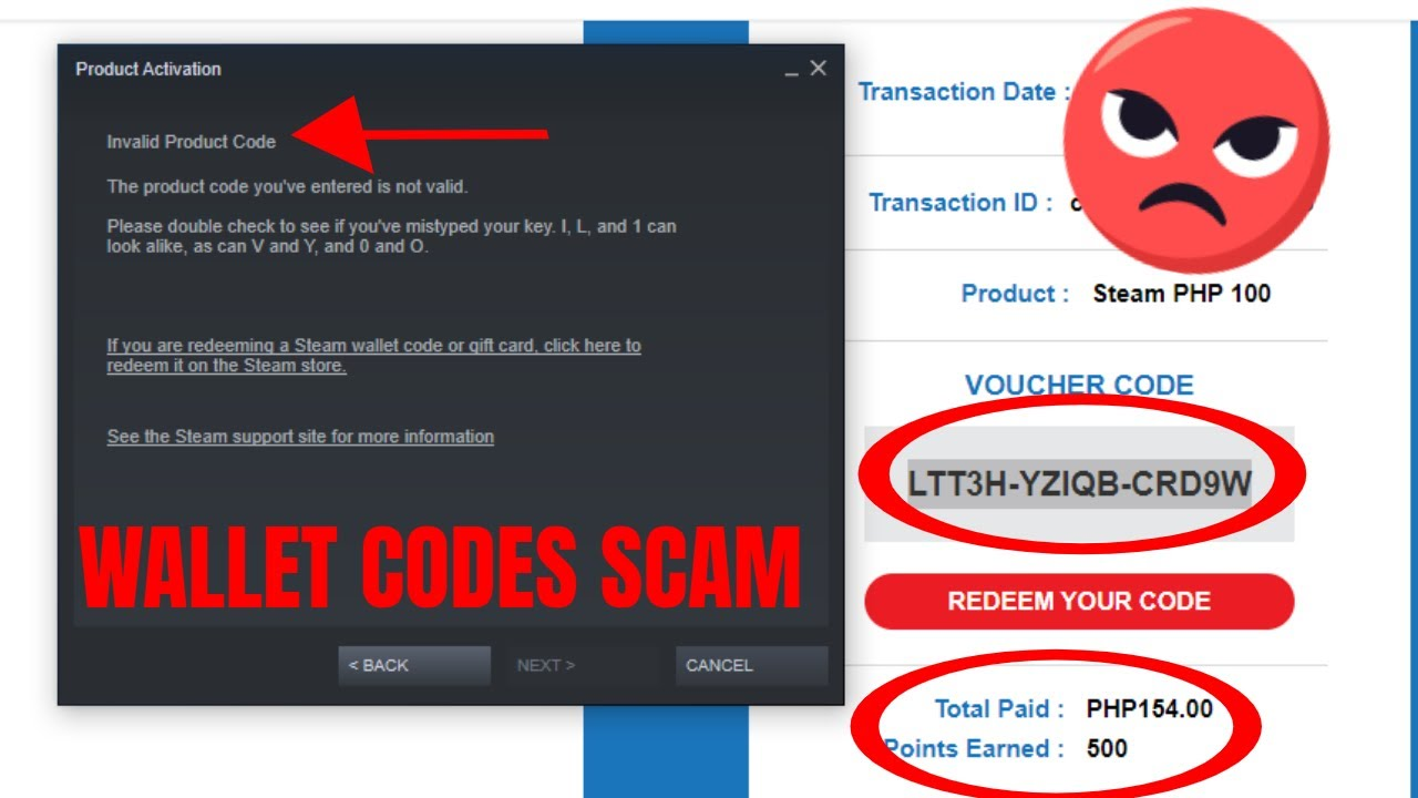 Steam Wallet Code Scam Dont Use Wallet Codes Youtube