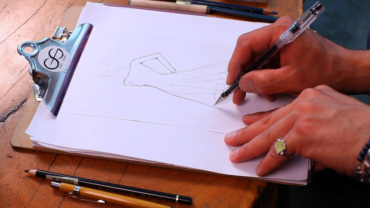 How To Draw A Dress Fashion Sketching Youtube