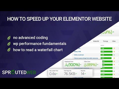 Tutorial 1: How to Optimize Elementor & WordPress Websites
