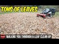 How To Do A Fall Leaf Clean Up - $145 In 1.5 Hours, Bagging Leaves   Simple Basic Clean Up