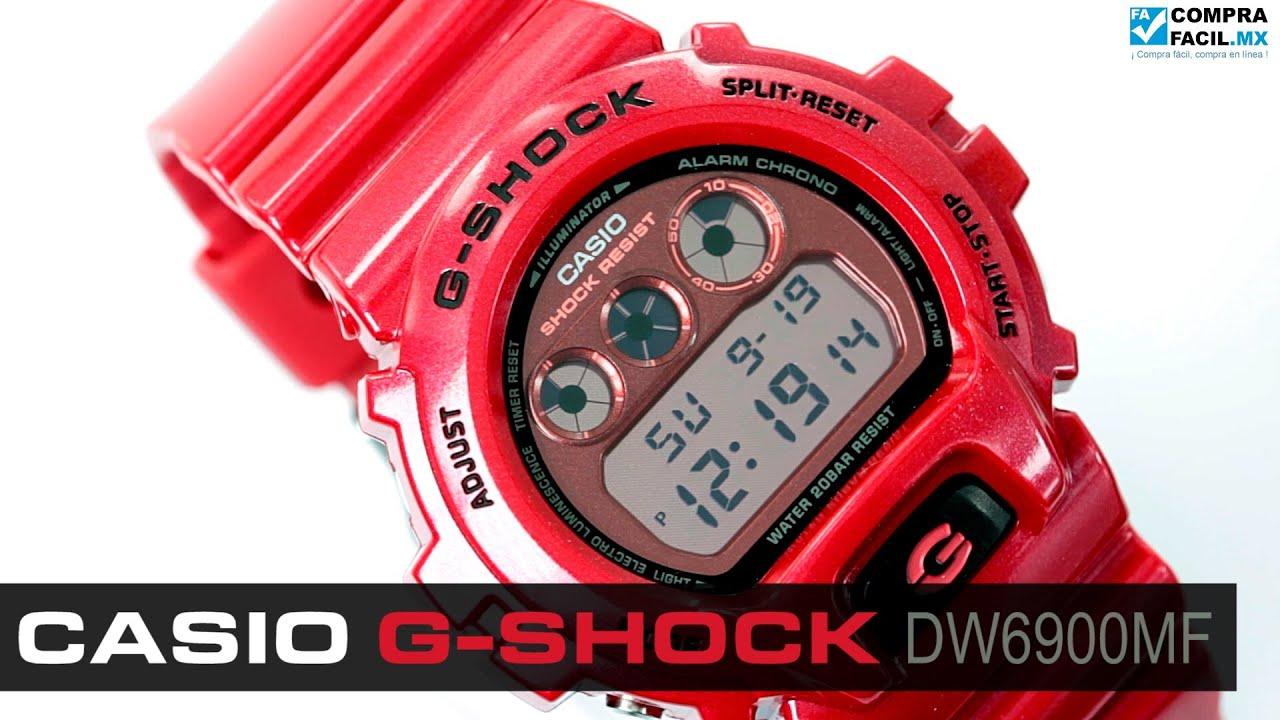 7bee3c7e5201 Reloj Casio G-Shock DW6900MF - CompraFacil.mx - YouTube