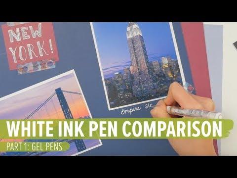 White Ink Pen Comparison - Part 1: Gel Pens
