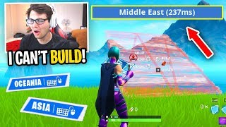 Every death I SWITCH SERVERS in Fortnite... (playing with BAD PING)