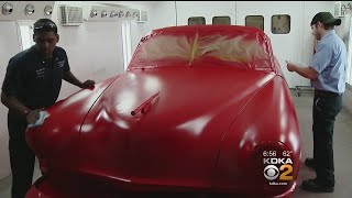Monroeville Technical School Students Fix Up Classic Car For H.S. Production Of