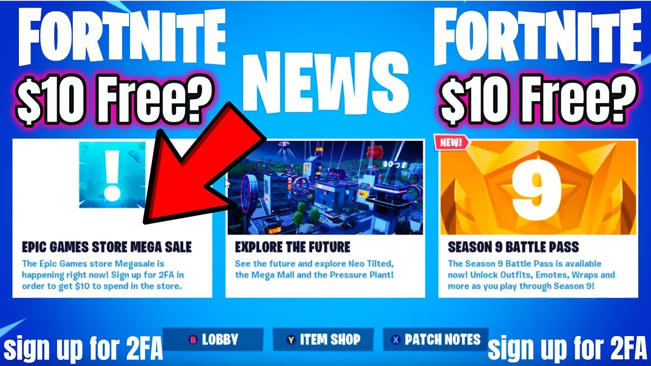 Fortnite Epic Games MEGA Sale (FREE $10?) Sign up for 2FA ...