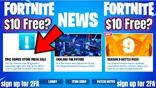 Fortnite Epic Games MEGA Sale (FREE $10?) Sign up for 2FA