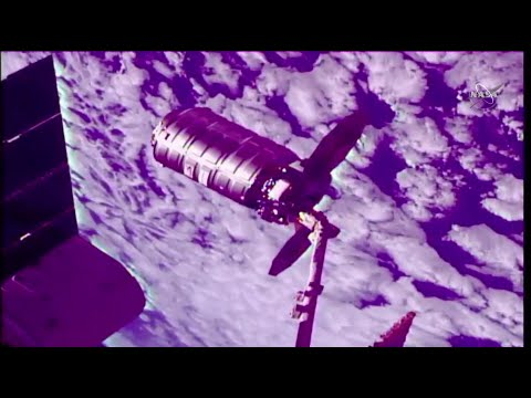 Cygnus Spacecraft Departs Space Station