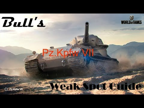 Bull's Weak Spot Guide To The Pz.Kpfw VII (World of Tanks Console)