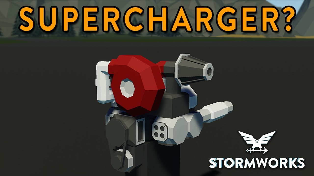Do Superchargers Works?? - Modular Engine Test - Stormworks