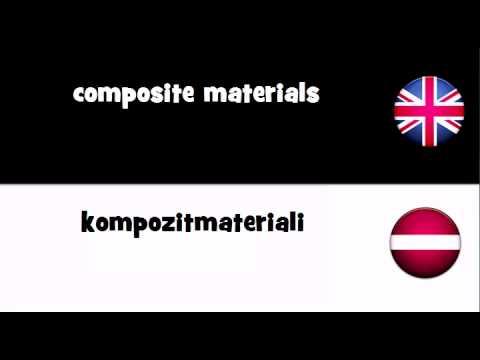 VOCABULARY IN 20 LANGUAGES = composite materials