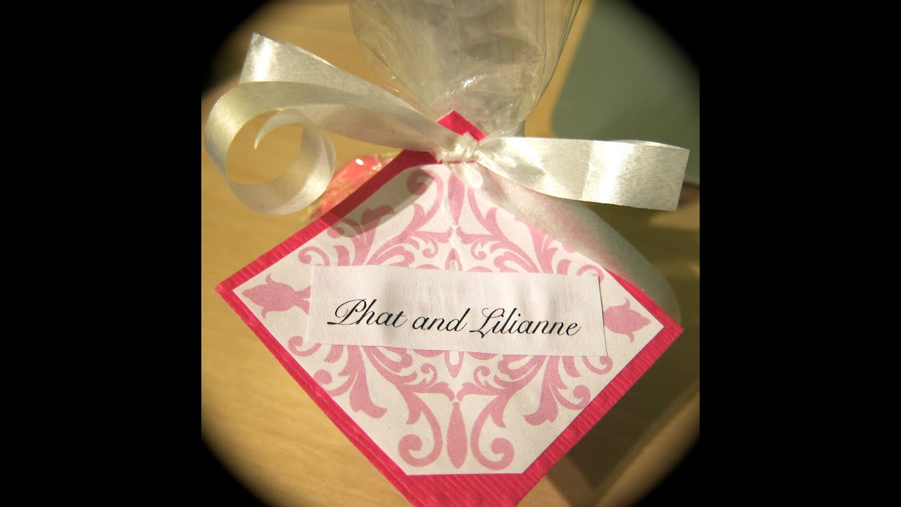 DIY: Cute and Simple Wedding Favors - YouTube