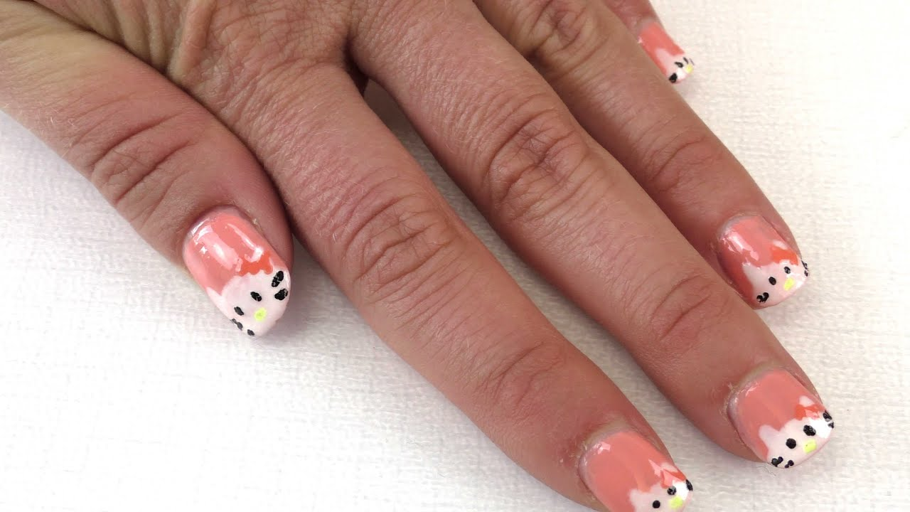 hello kitty n gel diy nageldesign mit hello kitty ganz einfach selber machen youtube. Black Bedroom Furniture Sets. Home Design Ideas