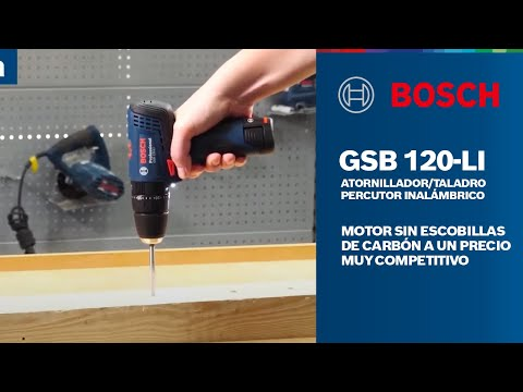 Bosch GSB 120-LI: Atornillador/Taladro Percutor Inalámbrico 12V