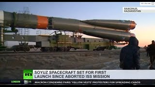Soyuz spacecraft set for first launch since aborted ISS mission