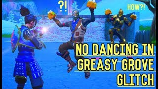 *GLITCH* How To Stop Dancing In NEW Greasy Grove Fortnite Battle Royale - No Taco Time Glitch