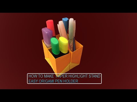 How to Make Mini Paper Pencil - Highlighter Stand (DIY)