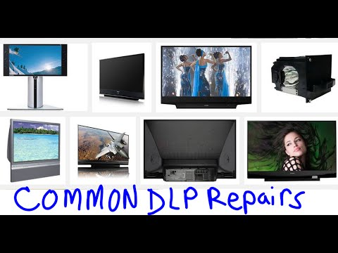 MOST COMMON EASY FIXES DLP TVs - no power, no picture, dots, blinking leds,  turns off,
